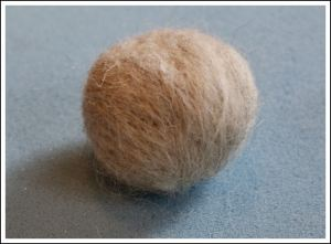 Swaledale light grey ball after 10 minutes