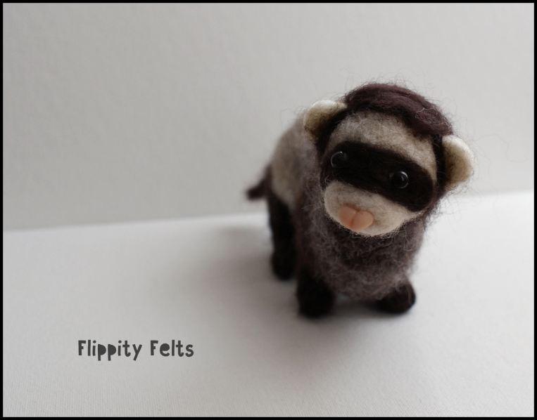 Needle felted ferret
