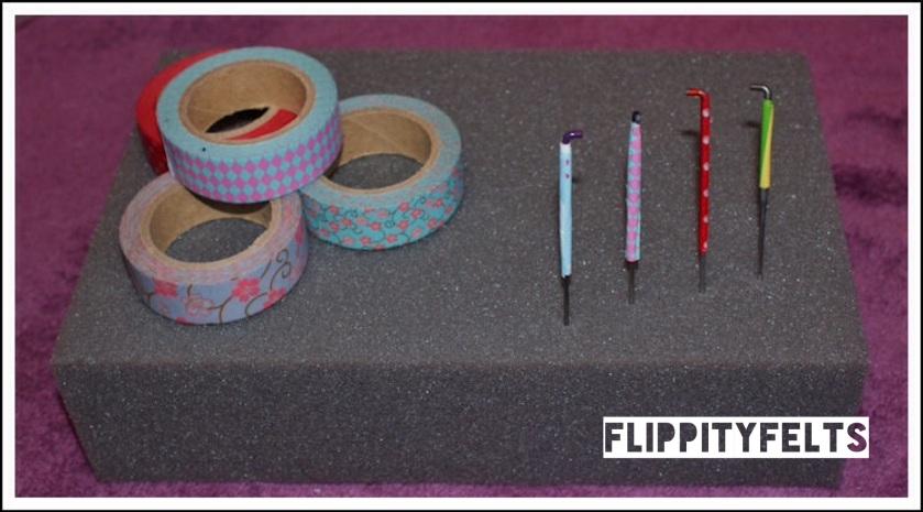 Flippity Felts decorated needles
