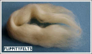 The starting bundle of Cheviot fibres