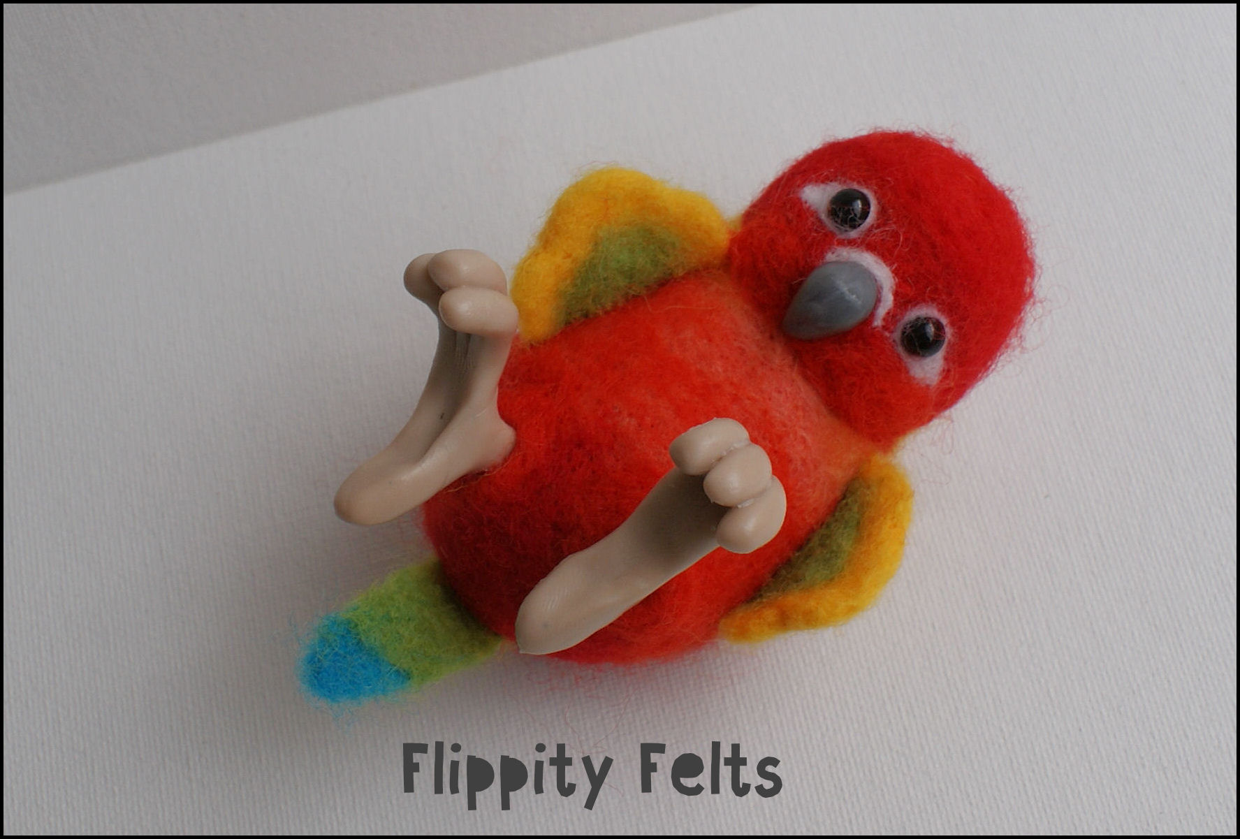 Red Factor Sun Conure Flippity Felts