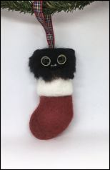 felted black persian stocking