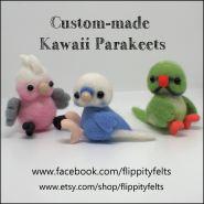 Custom Kawaii Parakeets